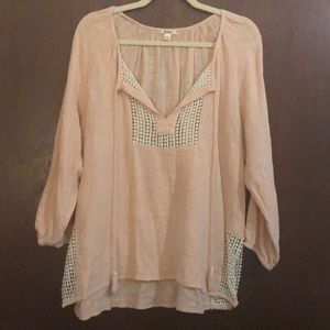 Boho pink Dylan True Grit top size medium